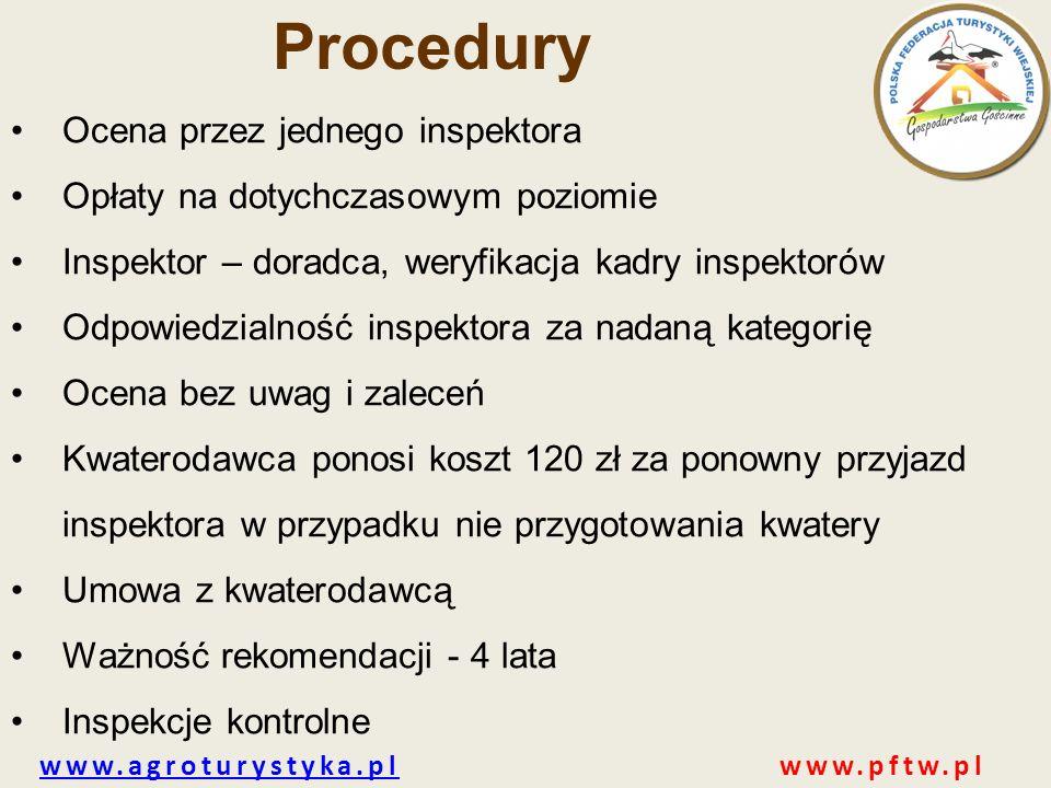 Procedury Ocena przez jednego inspektora