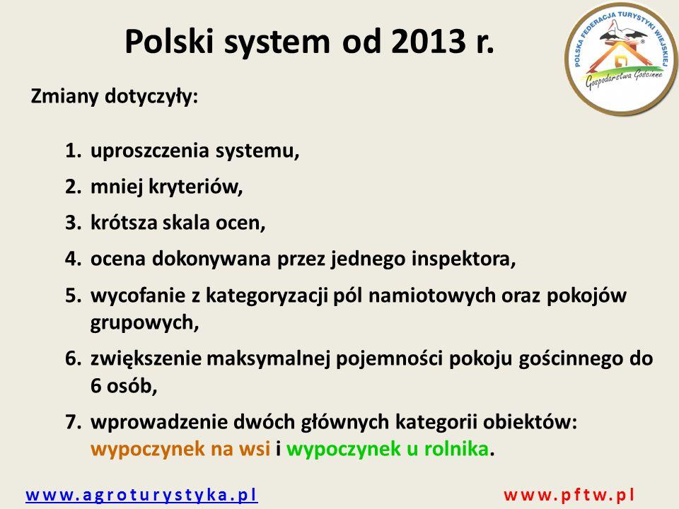 Polski system od 2013 r. Zmiany dotyczyły: uproszczenia systemu,