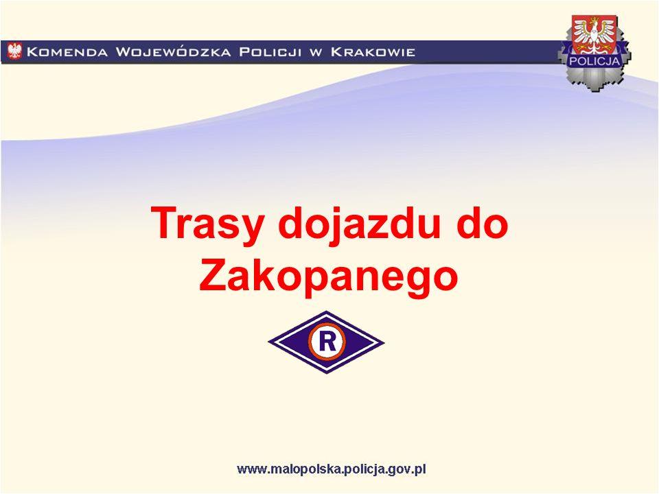 Trasy dojazdu do Zakopanego