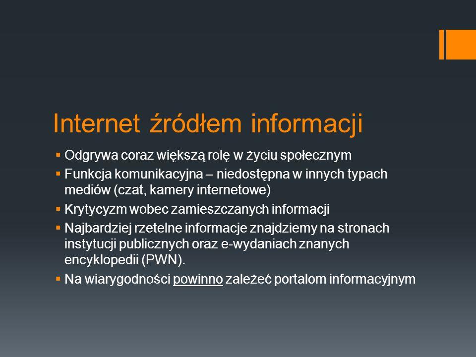 Internet źródłem informacji