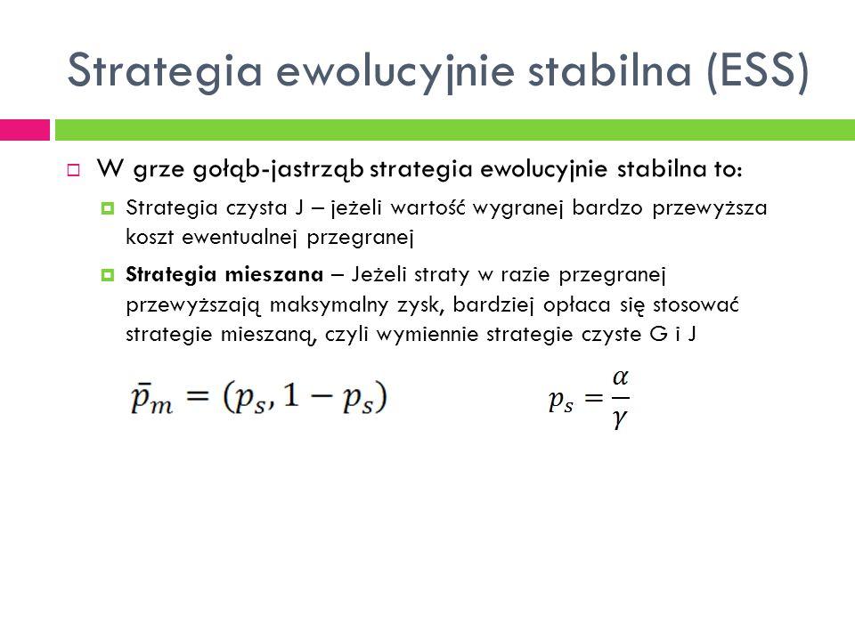 Strategia ewolucyjnie stabilna (ESS)