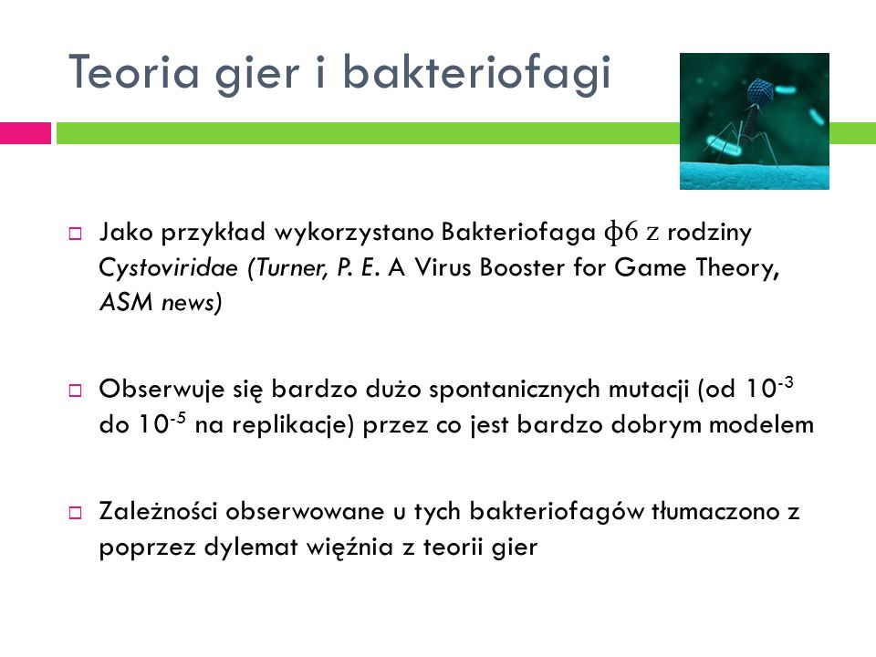 Teoria gier i bakteriofagi