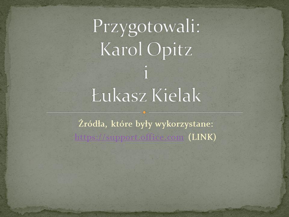 Przygotowali: Karol Opitz i Łukasz Kielak