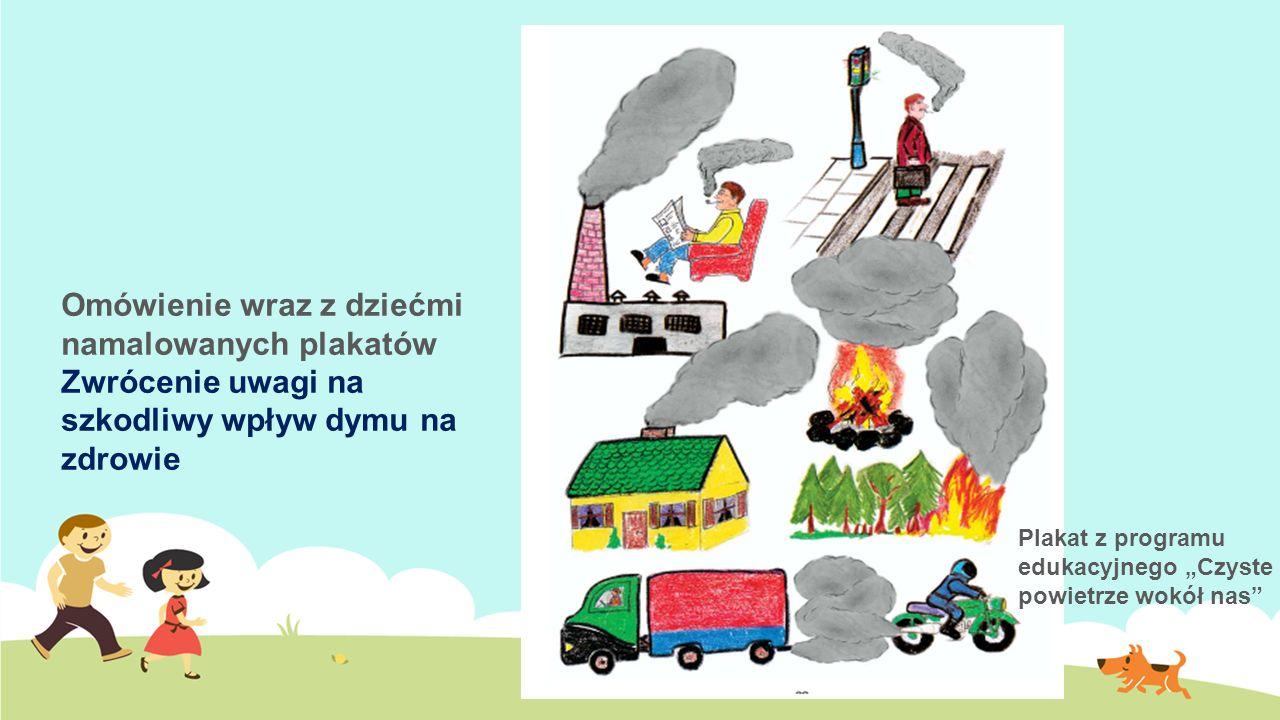 Omówienie wraz z dziećmi namalowanych plakatów