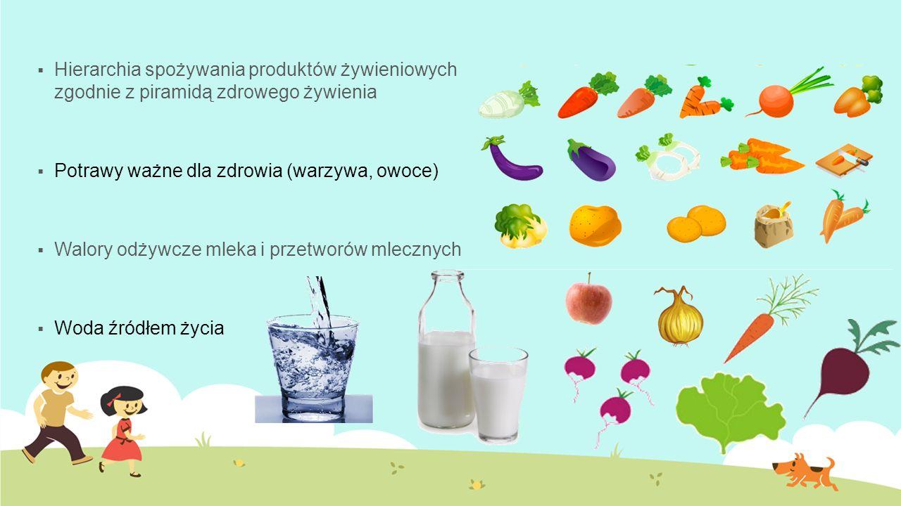Hierarchia spożywania produktów żywieniowych zgodnie z piramidą zdrowego żywienia