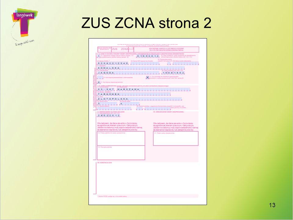 ZUS ZCNA strona 2