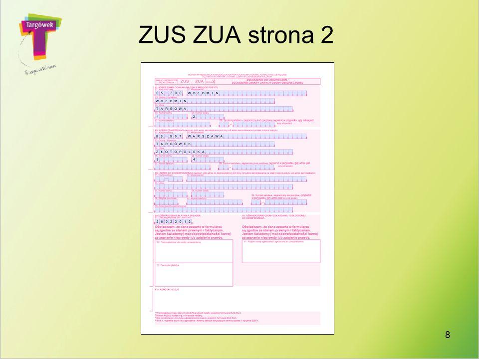 ZUS ZUA strona 2