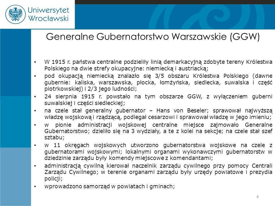 Generalne Gubernatorstwo Warszawskie (GGW)