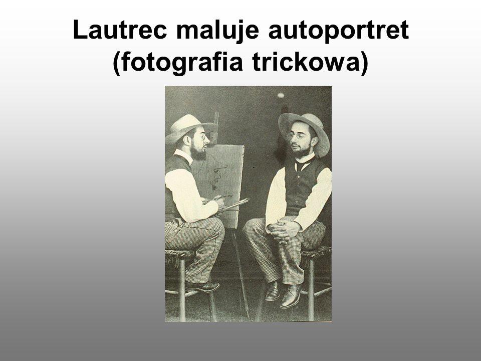 Lautrec maluje autoportret (fotografia trickowa)