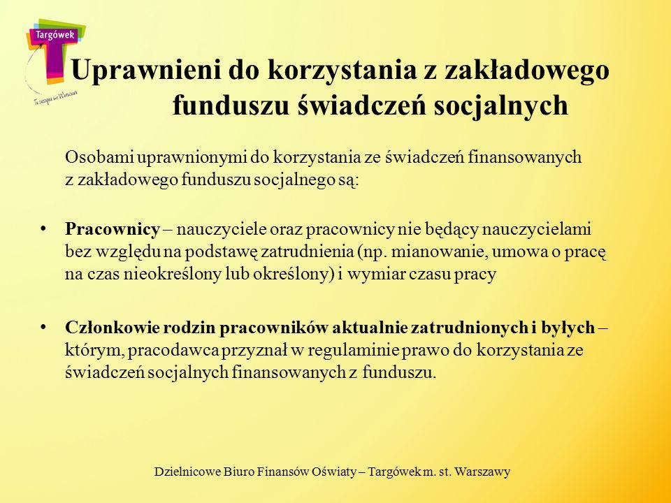 Uprawnieni do korzystania z zakładowego funduszu świadczeń socjalnych