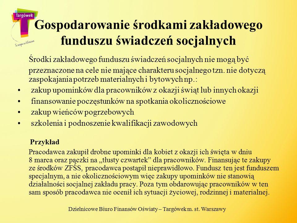 Gospodarowanie środkami zakładowego funduszu świadczeń socjalnych