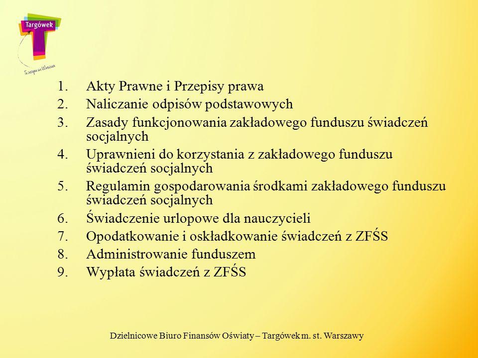 Dzielnicowe Biuro Finansów Oświaty – Targówek m. st. Warszawy