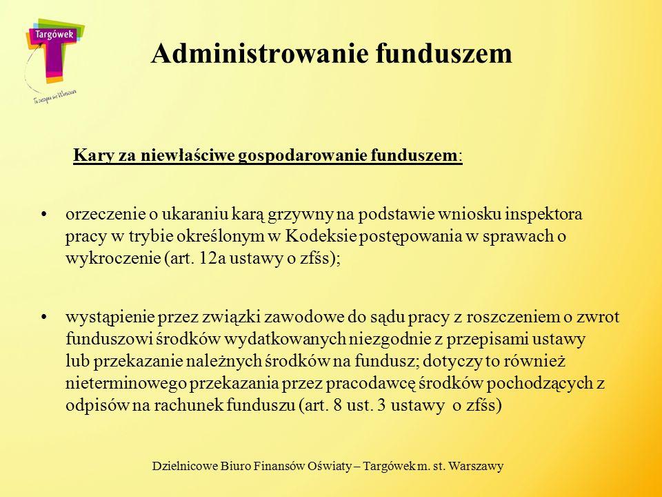 Administrowanie funduszem