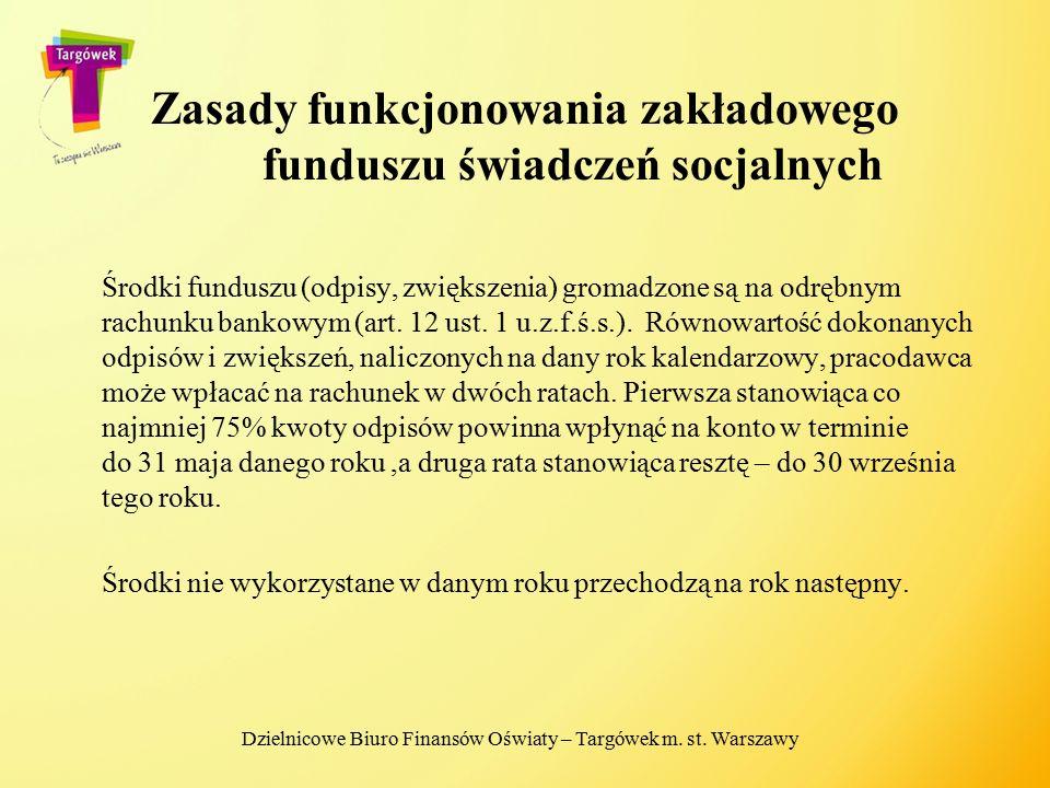 Zasady funkcjonowania zakładowego funduszu świadczeń socjalnych