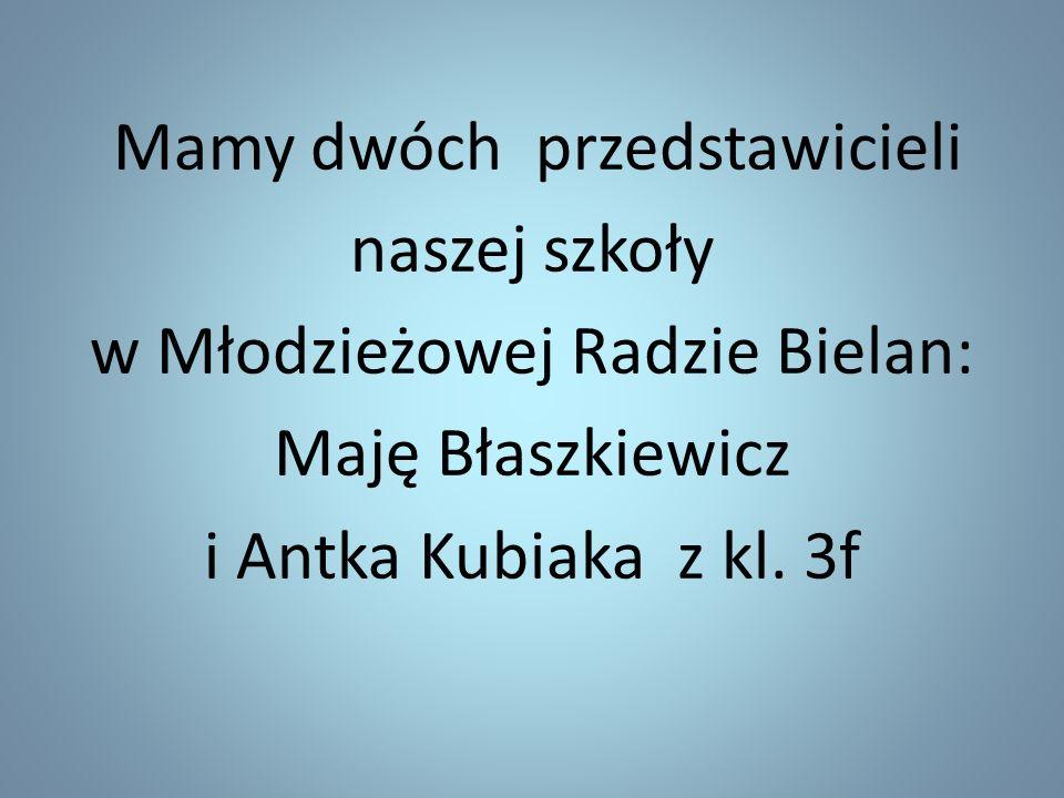 w Młodzieżowej Radzie Bielan: Maję Błaszkiewicz