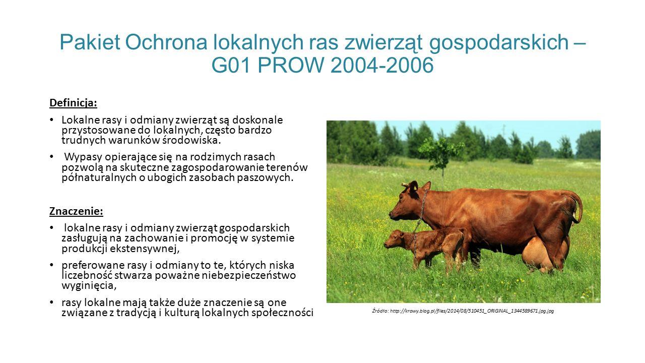 Pakiet Ochrona lokalnych ras zwierząt gospodarskich – G01 PROW 2004-2006