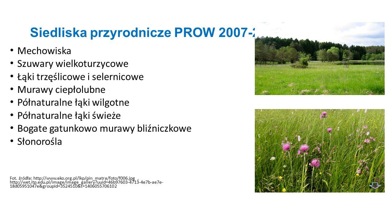Siedliska przyrodnicze PROW 2007-2013