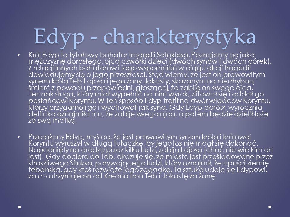 Edyp - charakterystyka