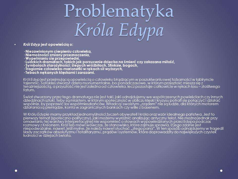 Problematyka Króla Edypa