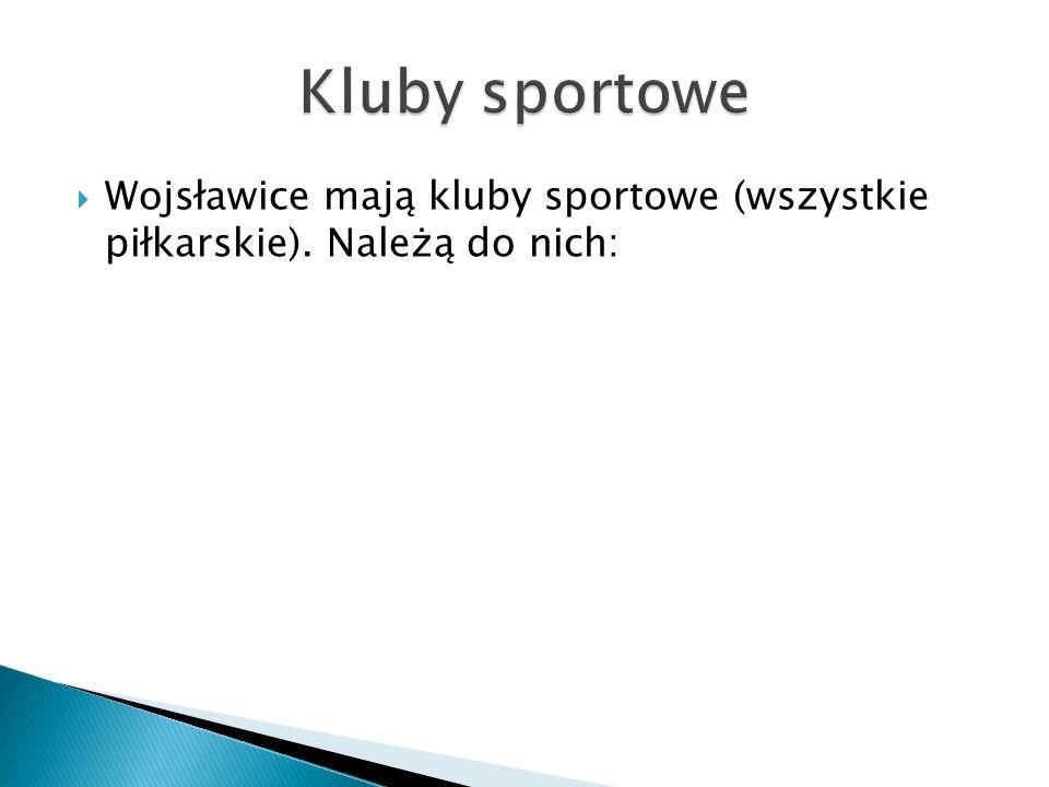Kluby sportowe Wojsławice mają kluby sportowe (wszystkie piłkarskie). Należą do nich: