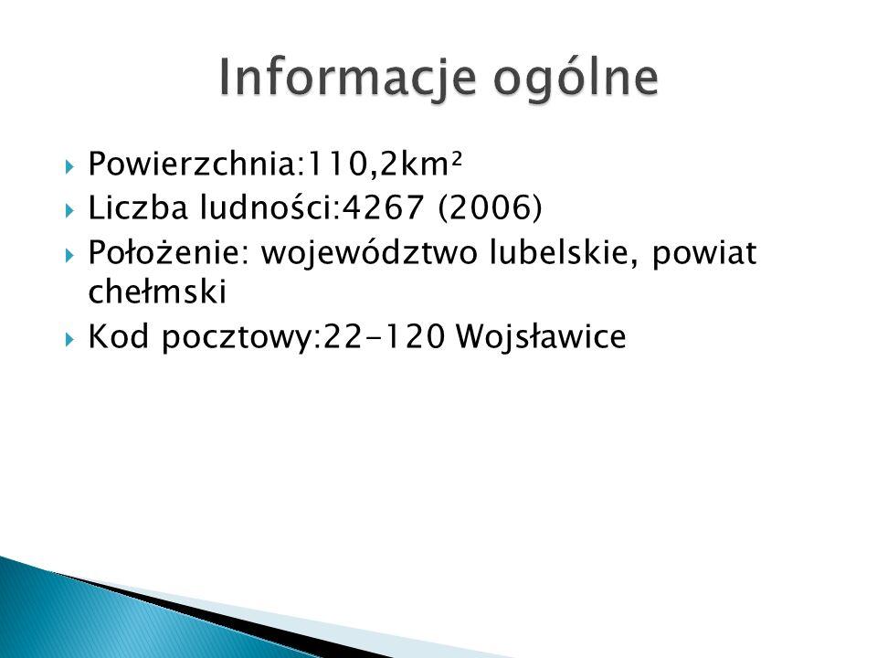Informacje ogólne Powierzchnia:110,2km² Liczba ludności:4267 (2006)
