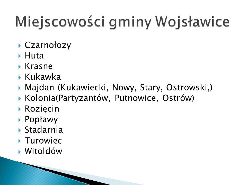 Miejscowości gminy Wojsławice