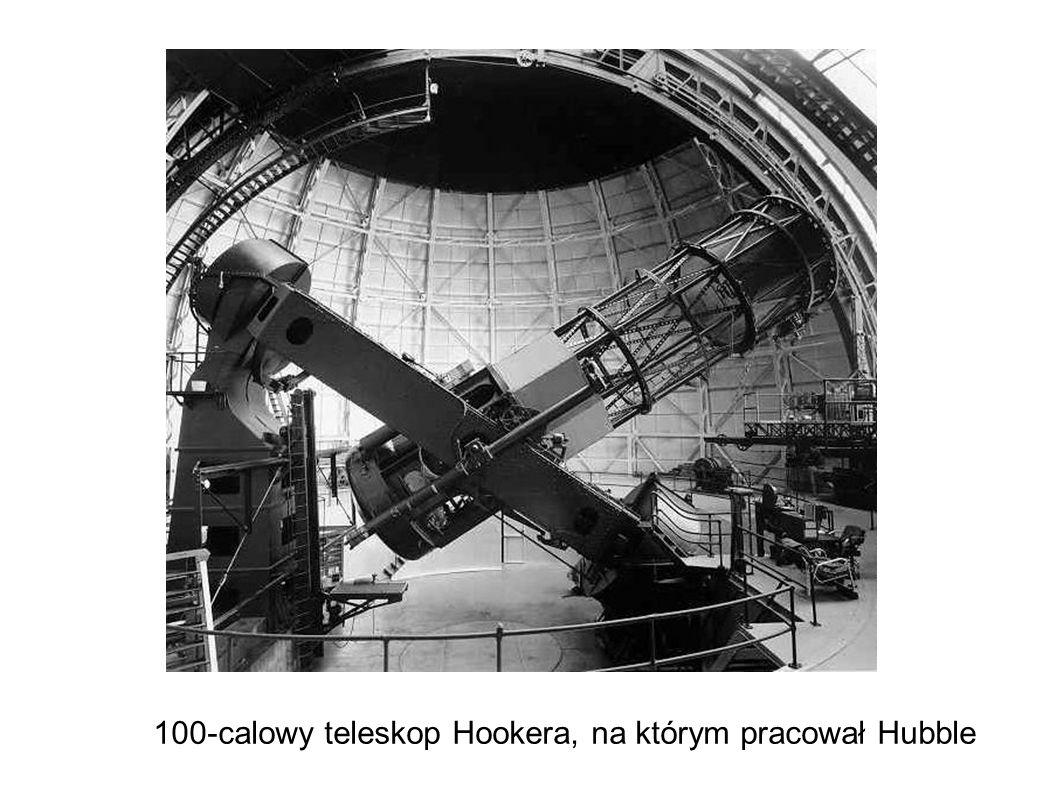 100-calowy teleskop Hookera, na którym pracował Hubble