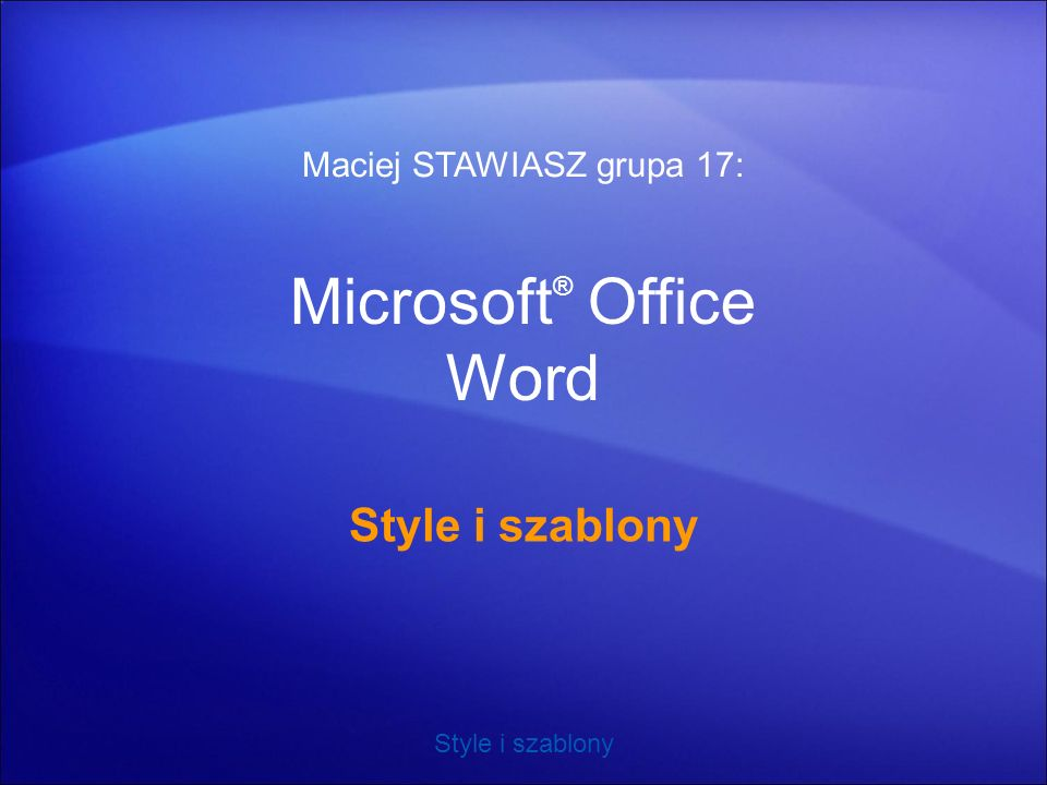 Microsoft® Office Word