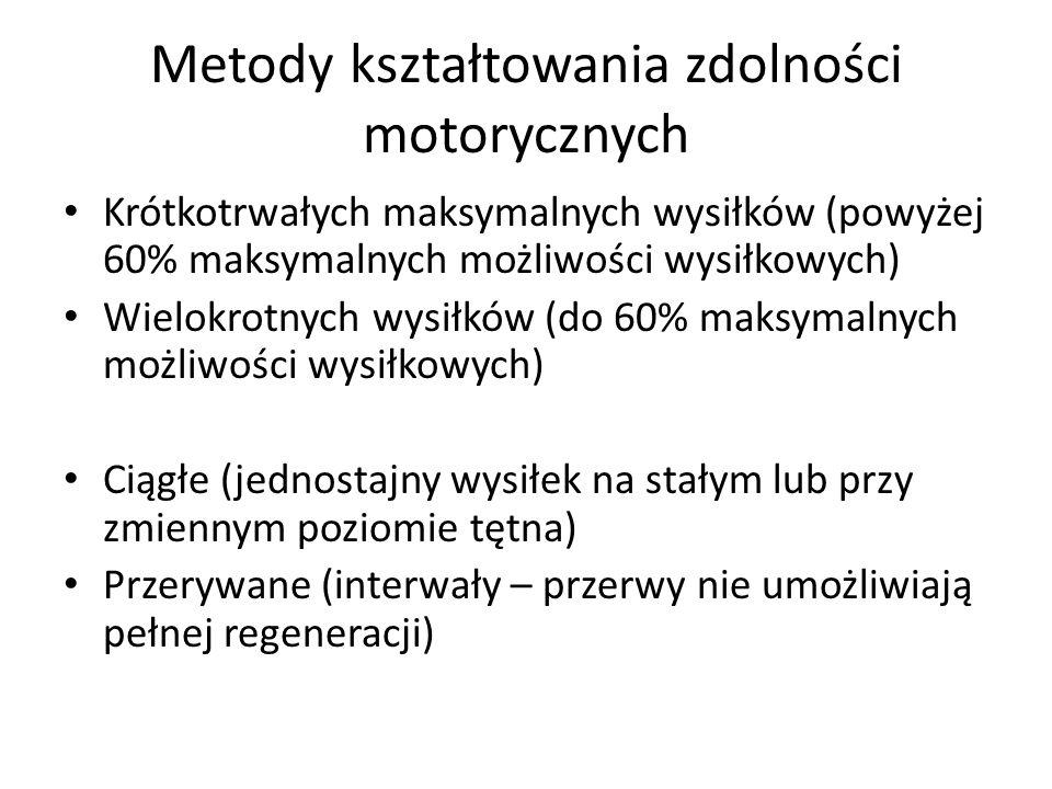 Metody kształtowania zdolności motorycznych
