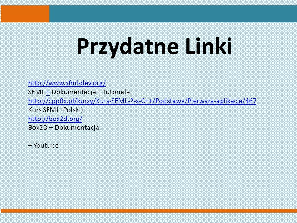 Przydatne Linki http://www.sfml-dev.org/