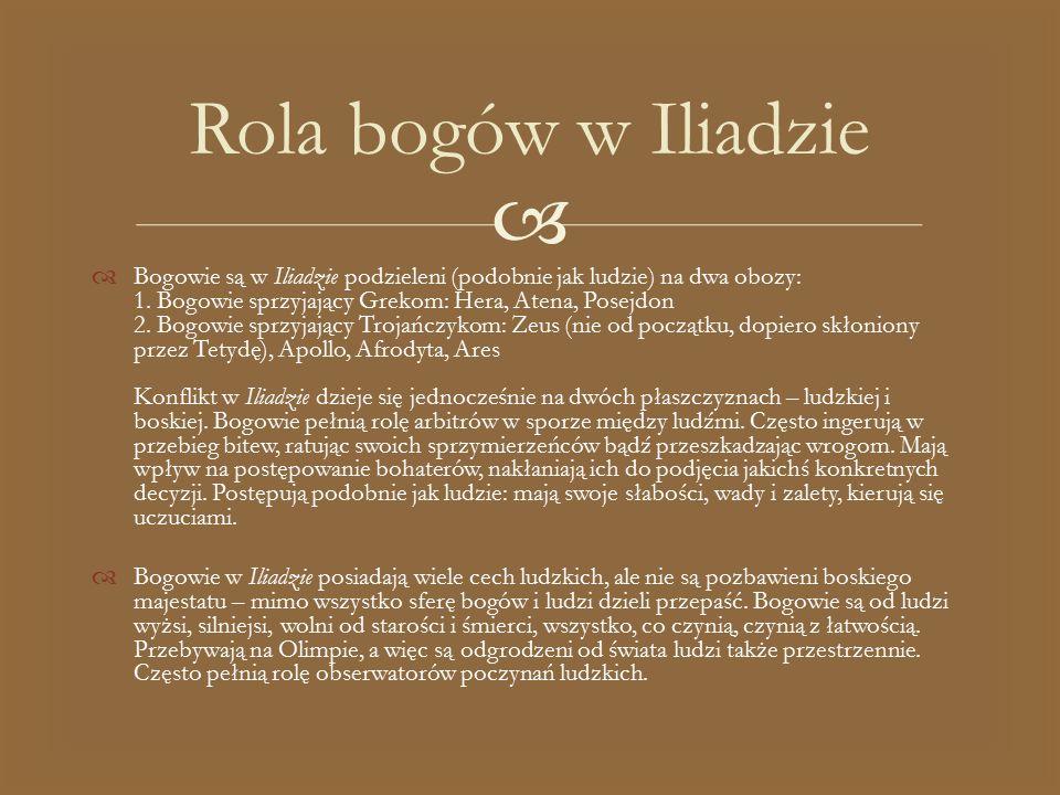 Rola bogów w Iliadzie