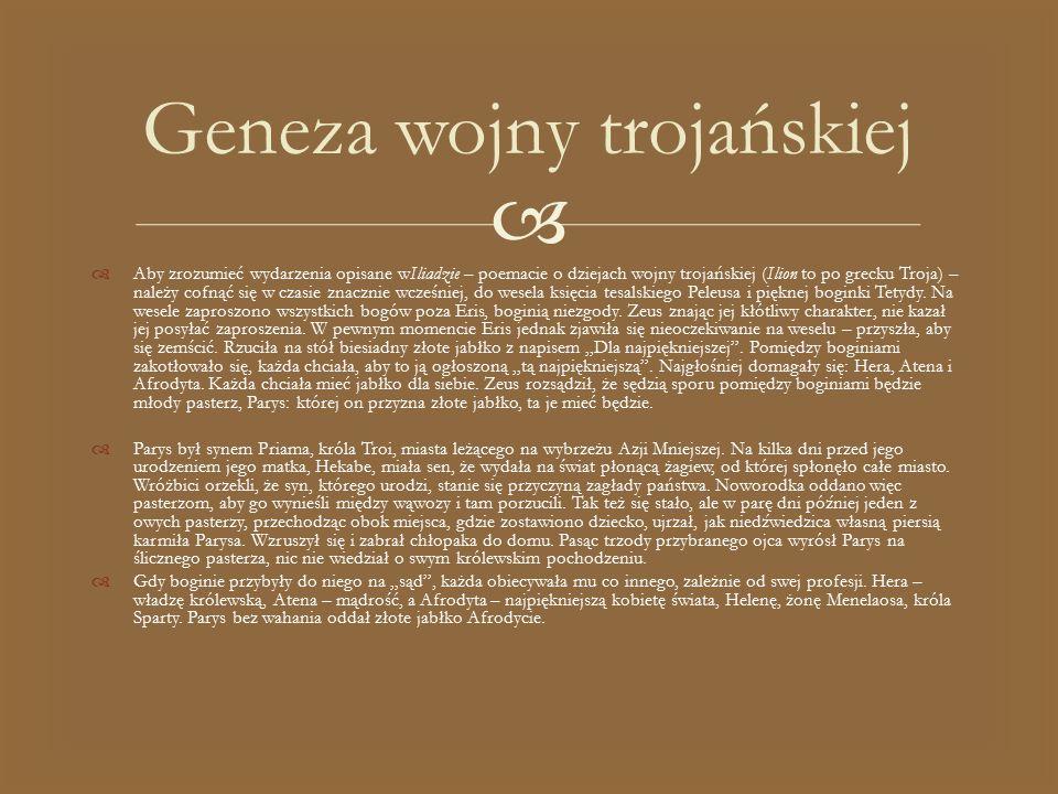 Geneza wojny trojańskiej