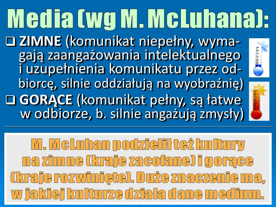 Media (wg M. McLuhana):