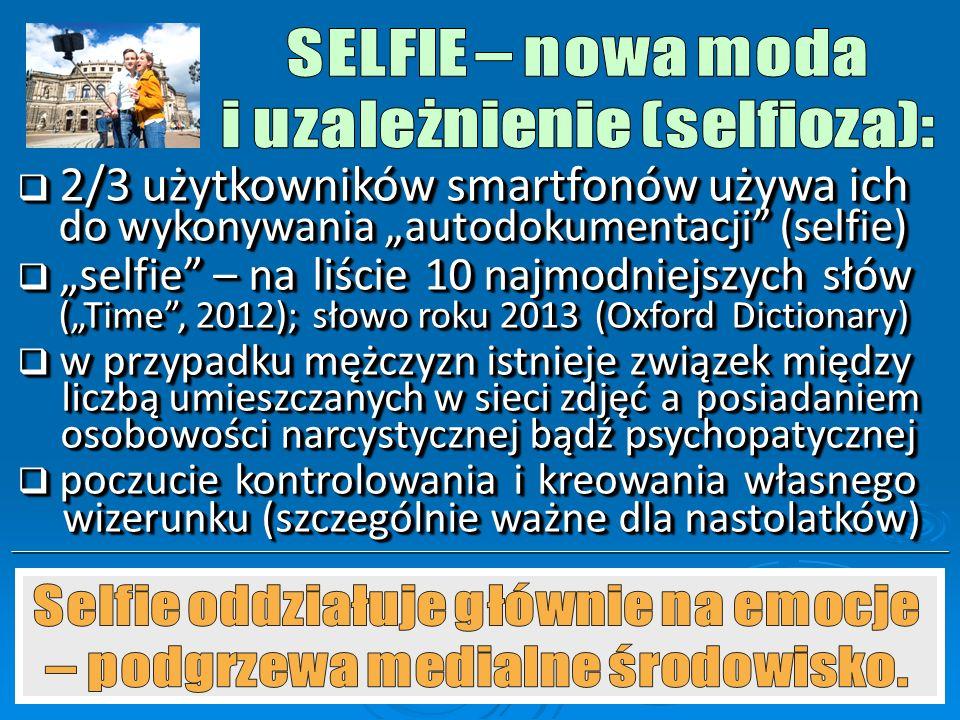 i uzależnienie (selfioza):