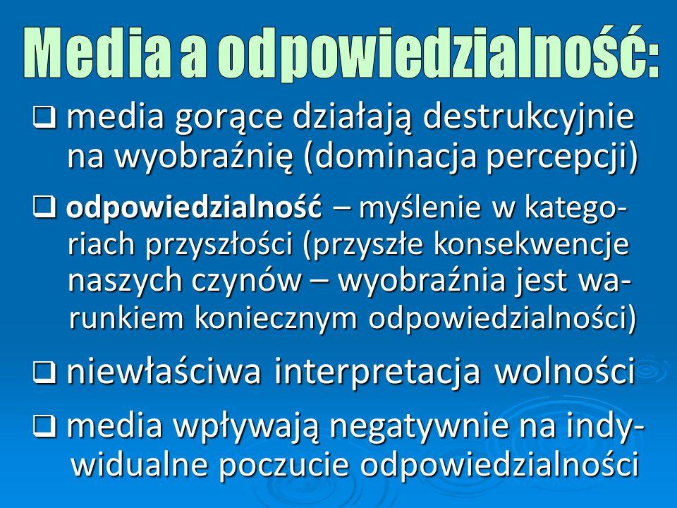 Media a odpowiedzialność: