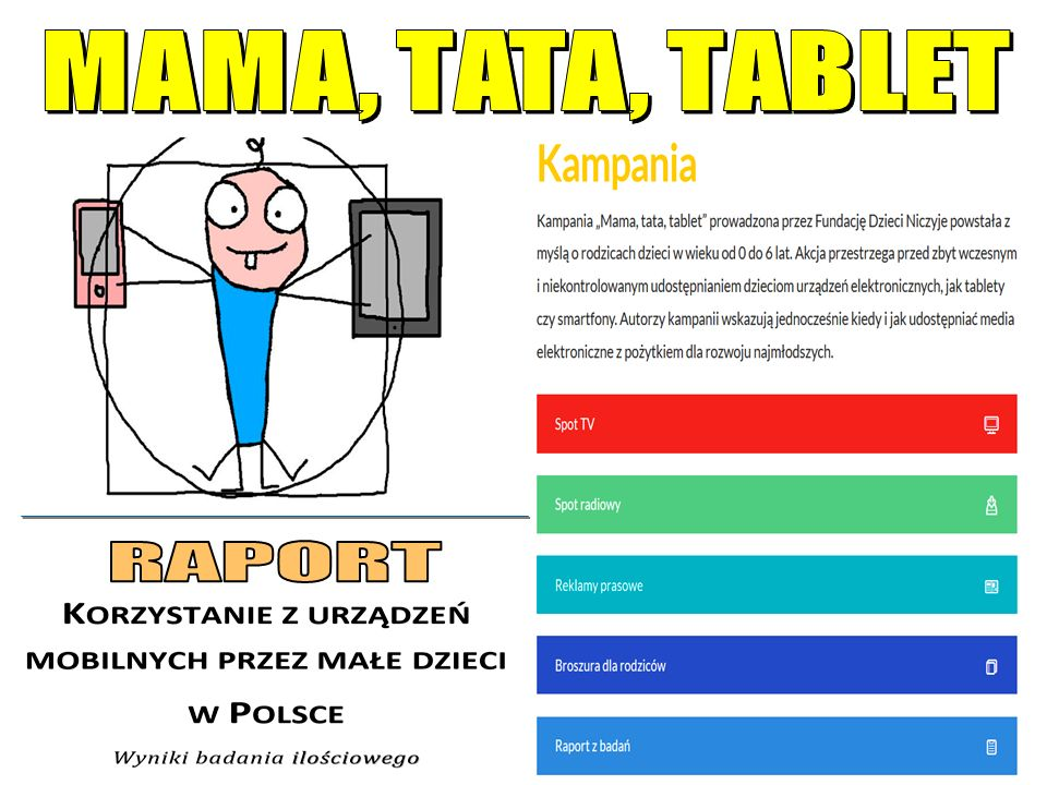 MAMA, TATA, TABLET RAPORT