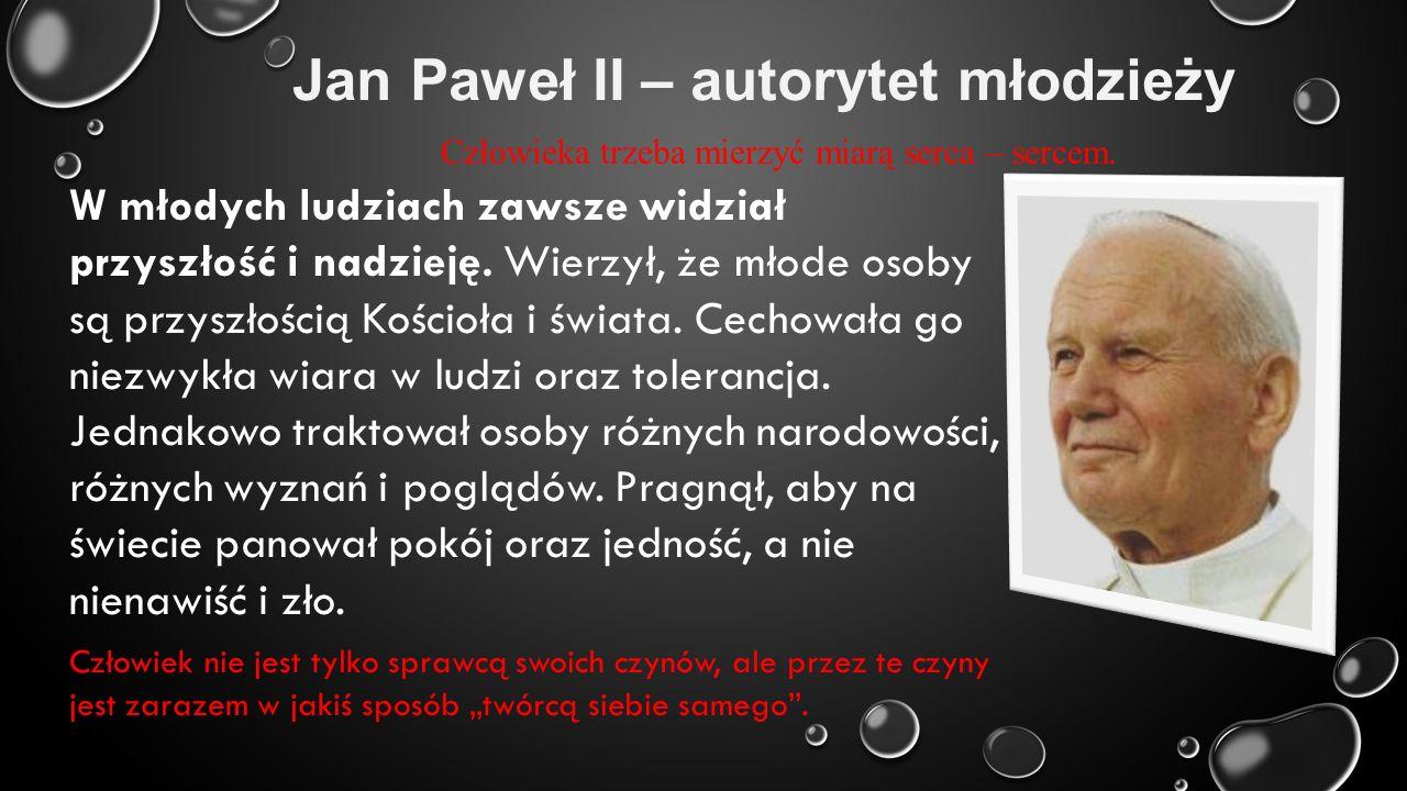 Jan Paweł II – autorytet młodzieży