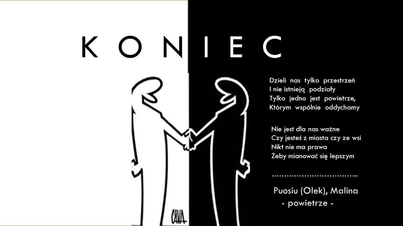 K O N I E C Puosiu (Olek), Malina - powietrze -