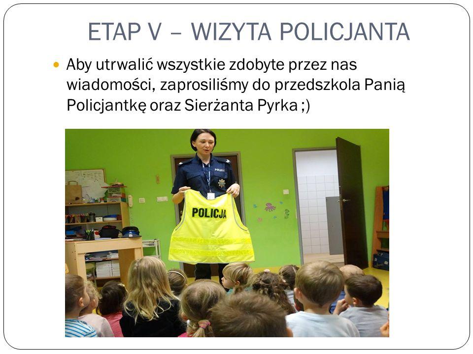 ETAP V – WIZYTA POLICJANTA