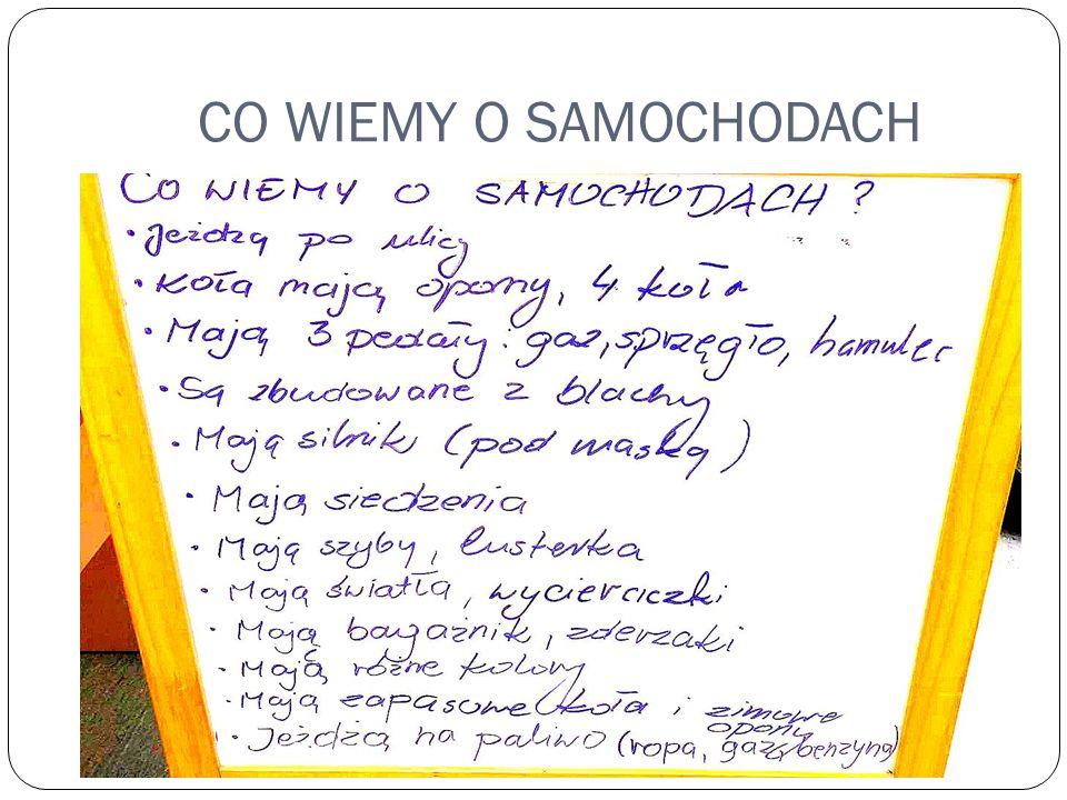 CO WIEMY O SAMOCHODACH