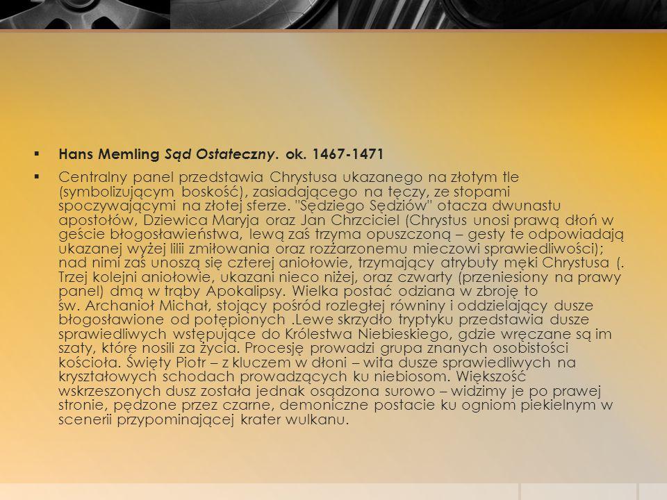 Hans Memling Sąd Ostateczny. ok. 1467-1471