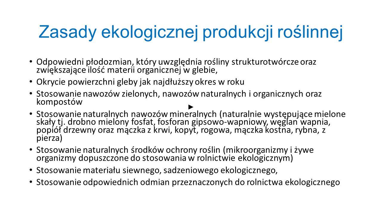 Zasady ekologicznej produkcji roślinnej