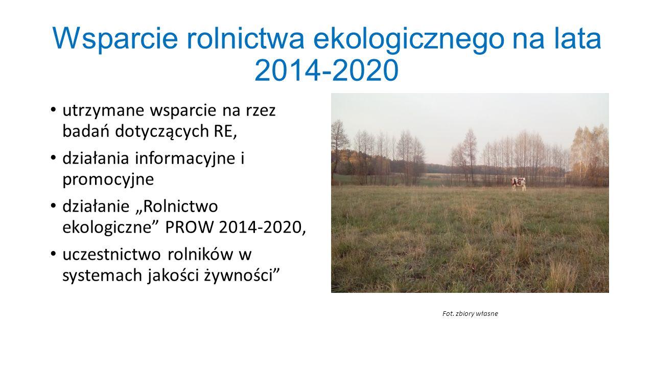 Wsparcie rolnictwa ekologicznego na lata 2014-2020
