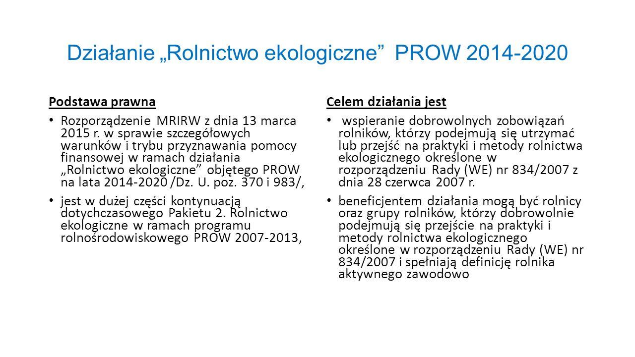 """Działanie """"Rolnictwo ekologiczne PROW 2014-2020"""