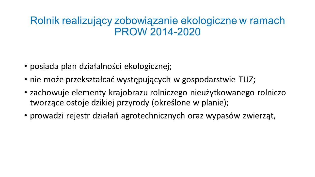 Rolnik realizujący zobowiązanie ekologiczne w ramach PROW 2014-2020