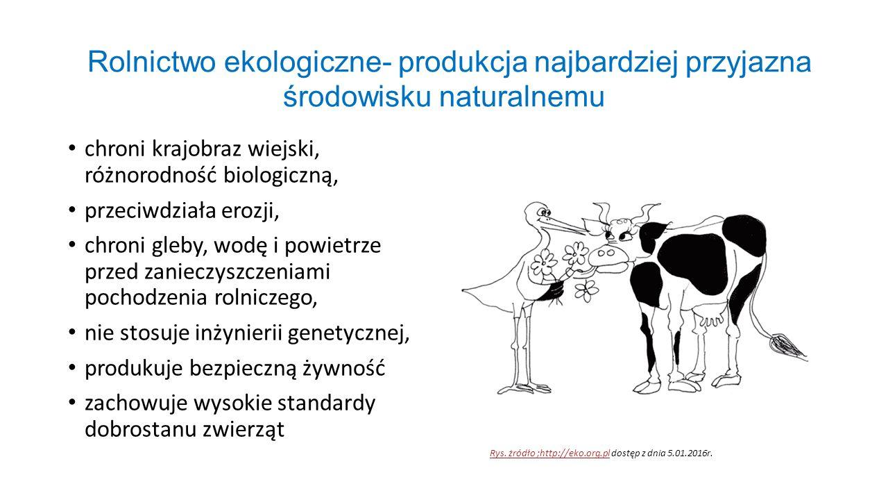 Rolnictwo ekologiczne- produkcja najbardziej przyjazna środowisku naturalnemu