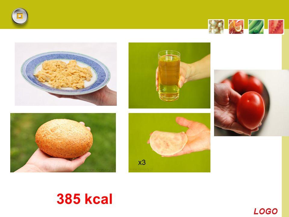 x3 385 kcal