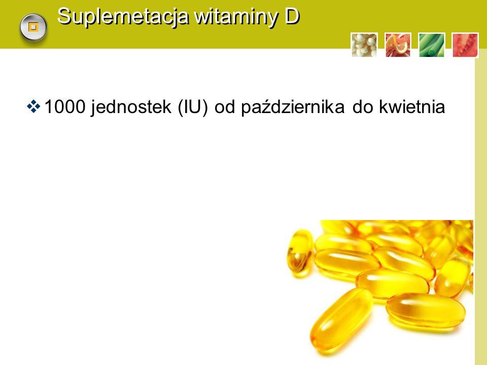 Suplemetacja witaminy D