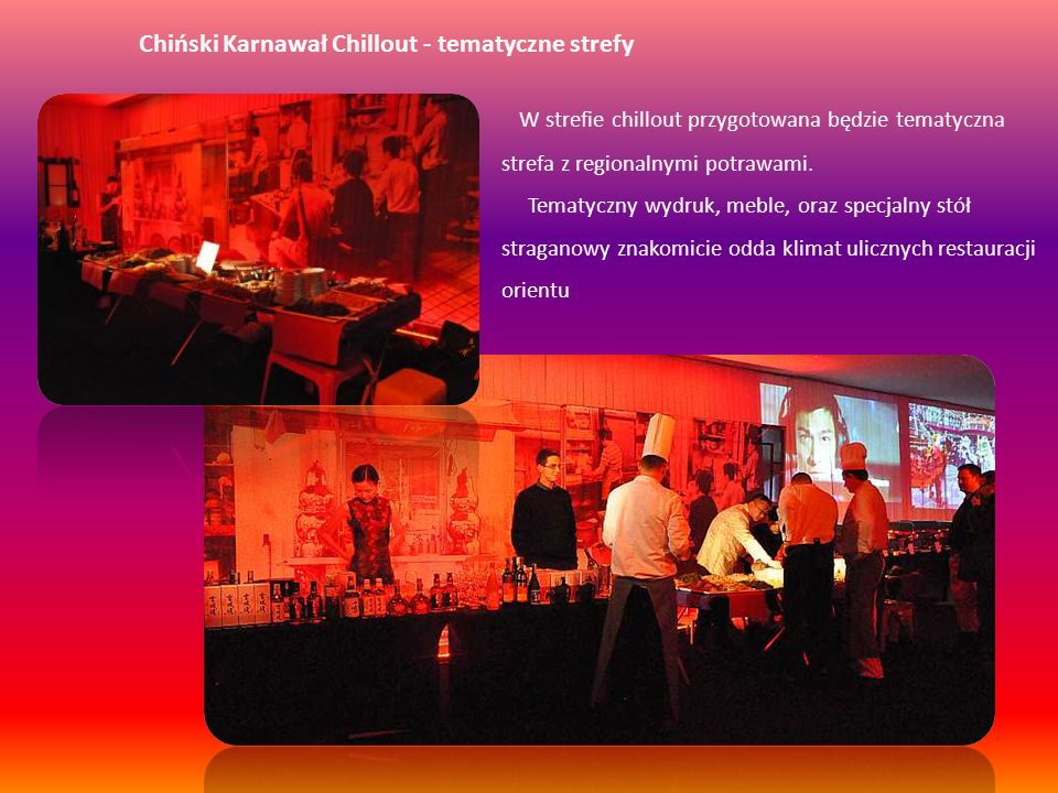 Chiński Karnawał Chillout - tematyczne strefy