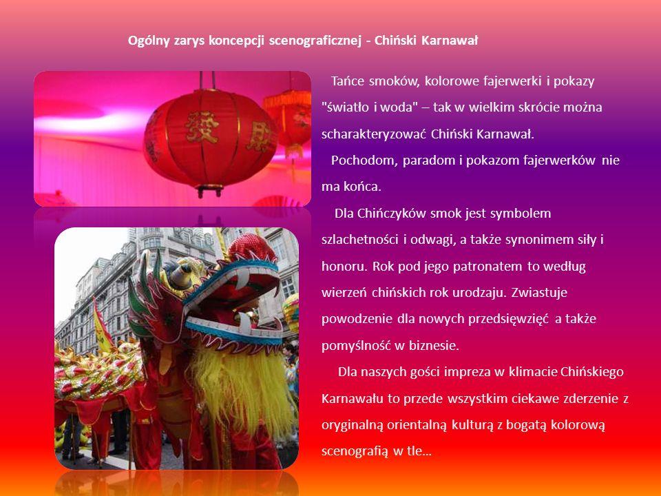 Ogólny zarys koncepcji scenograficznej - Chiński Karnawał
